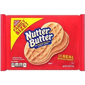 Nutter Butter Peanut Butter Sandwich Cookies - Family Size, 16 Ounce