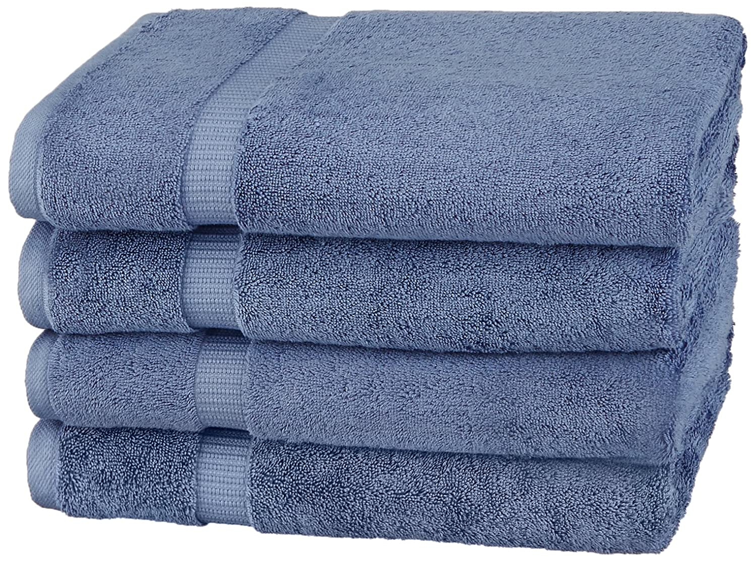 Pinzon Organic Cotton Bath Towels (4 Pack), White PZOR-WE-4PK
