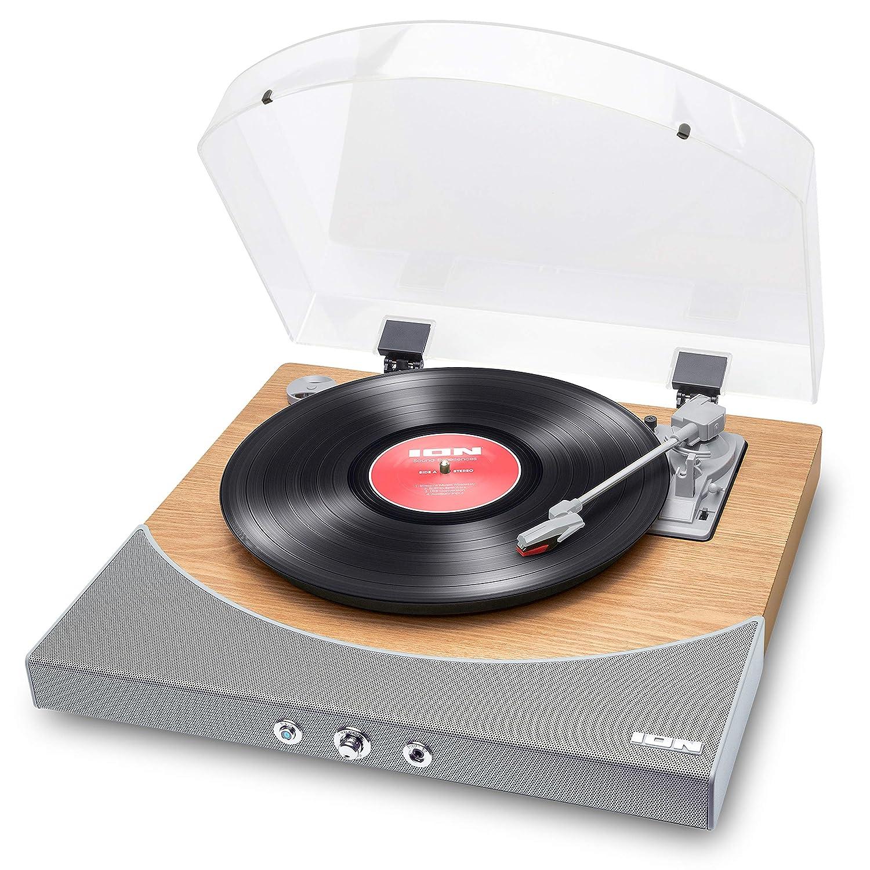 ION Audio Premier LP - Tocadiscos de vinilo Bluetooth, de 3 velocidades, altavoces estéreo, salida USB para convertir vinilos a formato digital
