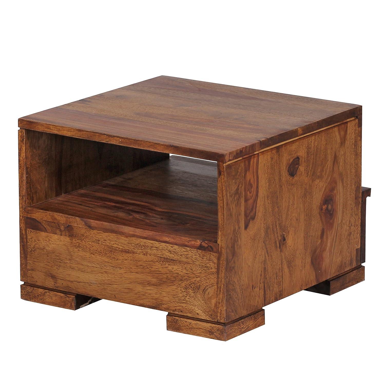 Dimensioni: 40 x 40 x 30 cm x 29,21 39,37 Wohnling wl1,519 in Legno Massiccio Sheesham-Comodino con cassetto e mensola 15,5 cm x 11,5