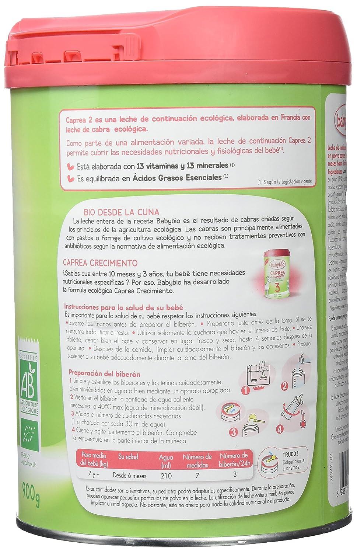 Babybio Caprea Leche 2 Continuación - 900 gr: Amazon.es: Alimentación y bebidas