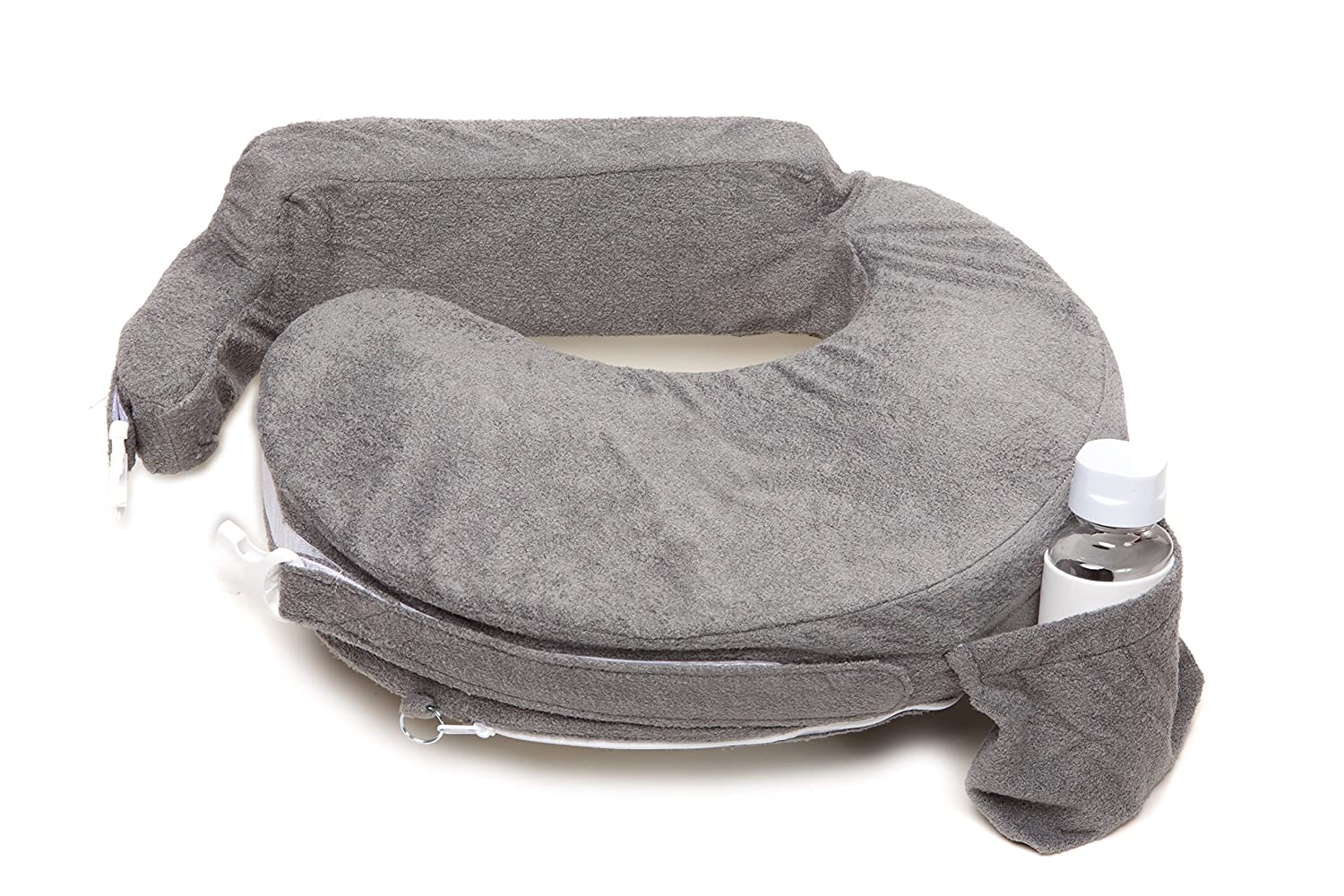 My Brest Friend Nursing Pillow Deluxe Slipcover, Evening, Dark Grey (pillow not included) Zenoff Products 462