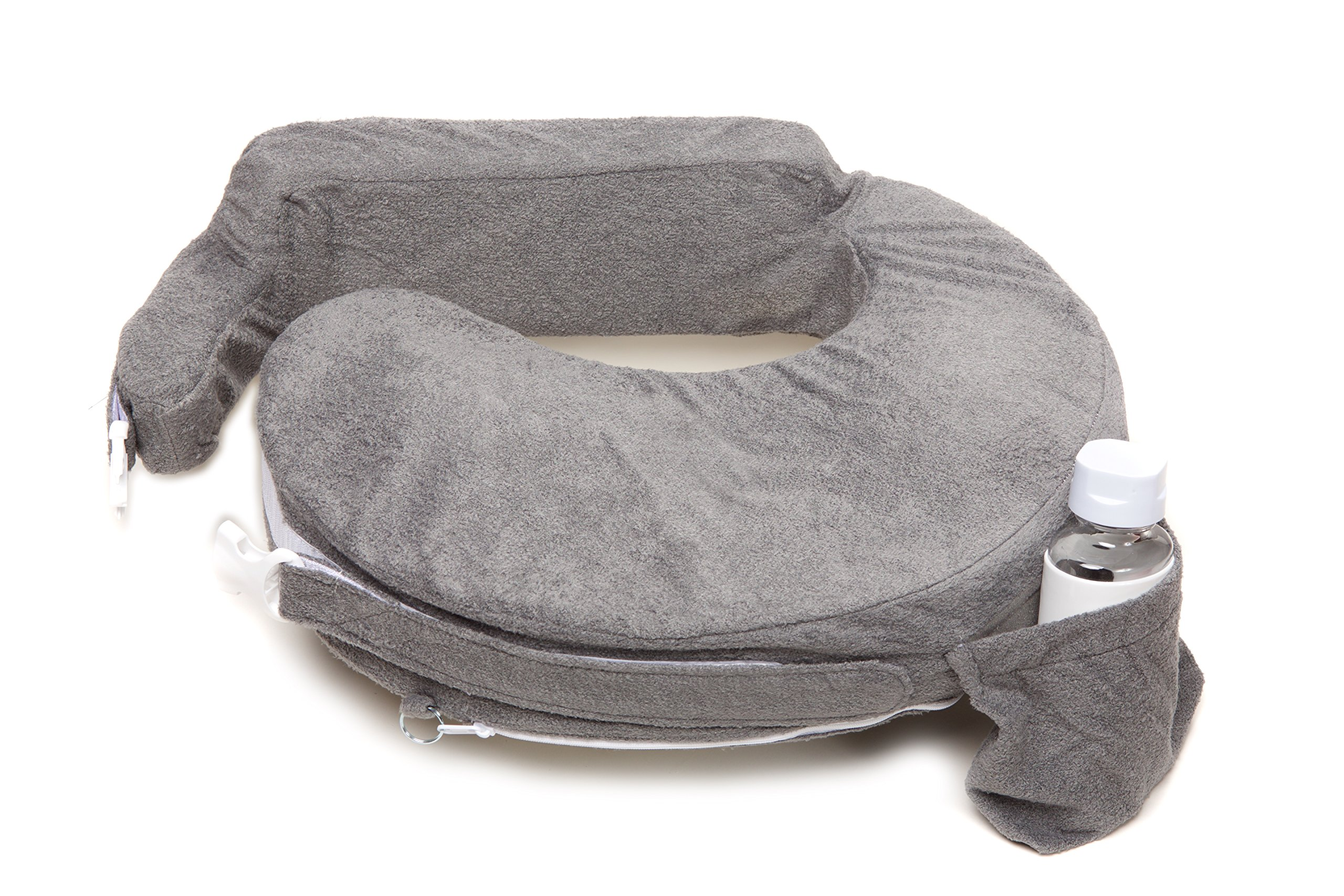 My Brest Friend Nursing Pillow Deluxe Slipcover - Machine Washable Breastfeeding Cushion Cover - Pillow not Included, Evening (Dark Grey) by My Brest Friend