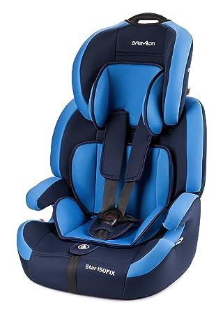 Babylon Star ISOFIX Silla de coche para niños 9-36 kg grupo 1-2-3, fabricada en Europa, color azul