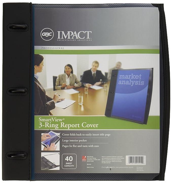 amazon com gbc smart view 3 ring report cover 11 5 x 11 inches