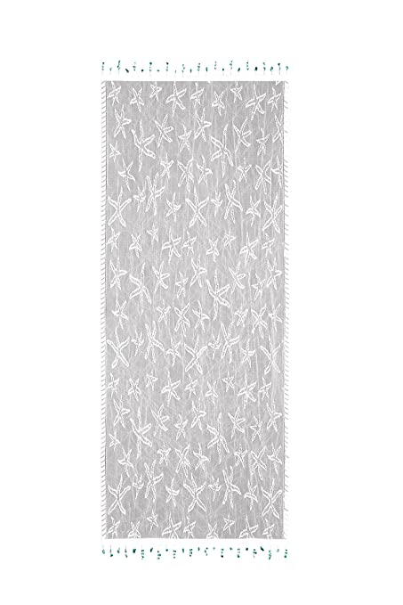 Heritage Lace Starfish Table Runner, 15 By 48 Inch, White