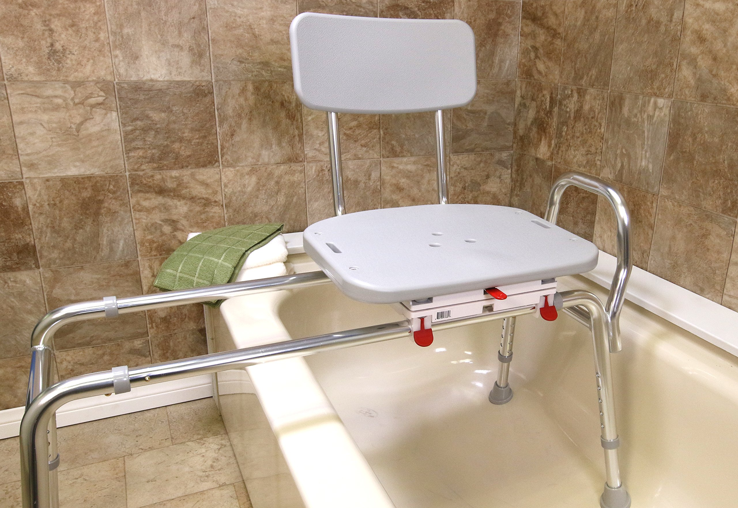 Swivel Sliding Bath Transfer Bench (77682) - Long (Base Length: 43'' - 44'') - Heavy-Duty Shower Bathtub Chair - Eagle Health Supplies by Eagle Health Supplies (Image #3)