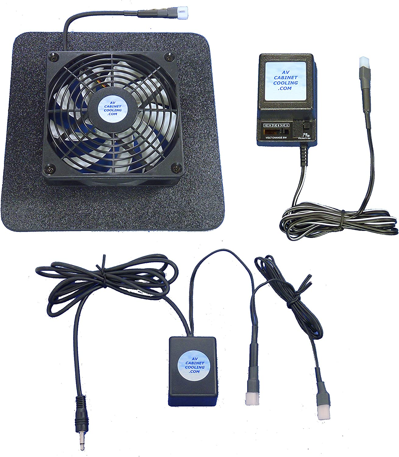 Superbase Receiver or Amplifier 12 Volt Trigger-Controlled Multi-Speed Cooling Fan (12v), with Multi-Speed