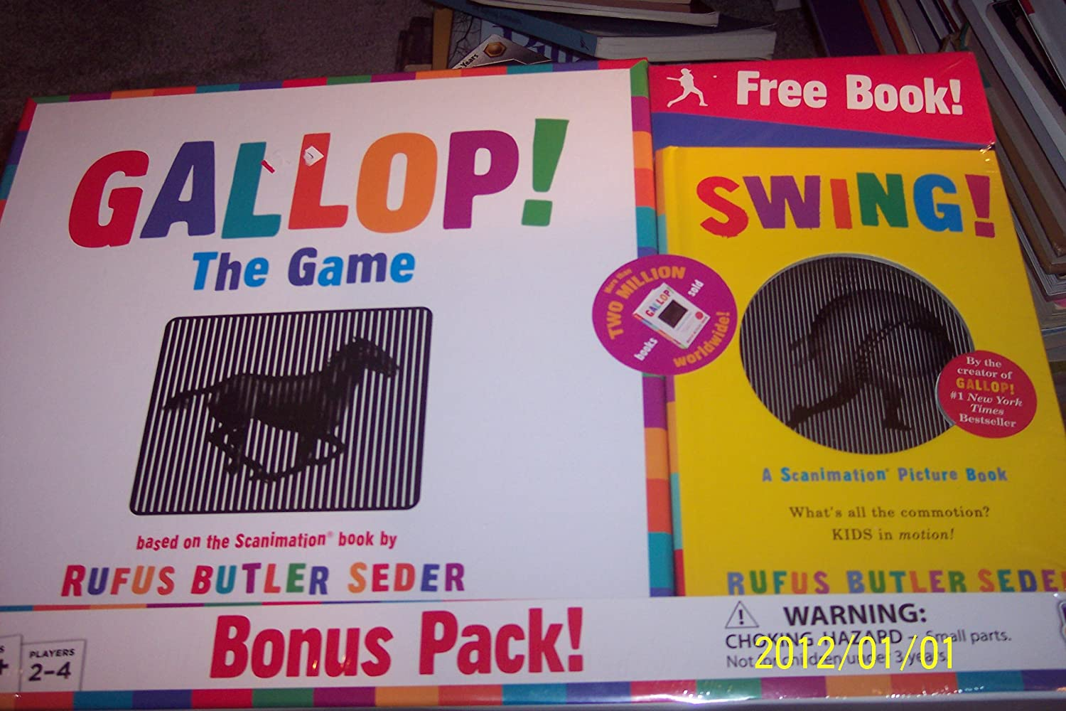 GALLOP  THE GAME BONUS PACK  free scanimation picture book