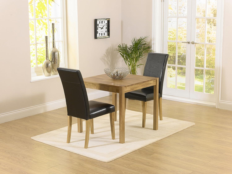 Montreal solidwood Möbel 2Esstisch Stuhl Set mit schwarz Atlanta Stühle