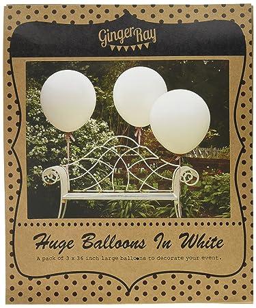 Ginger Ray Weiss 36 Zoll Funktion Hochzeit Luftballons Vintage