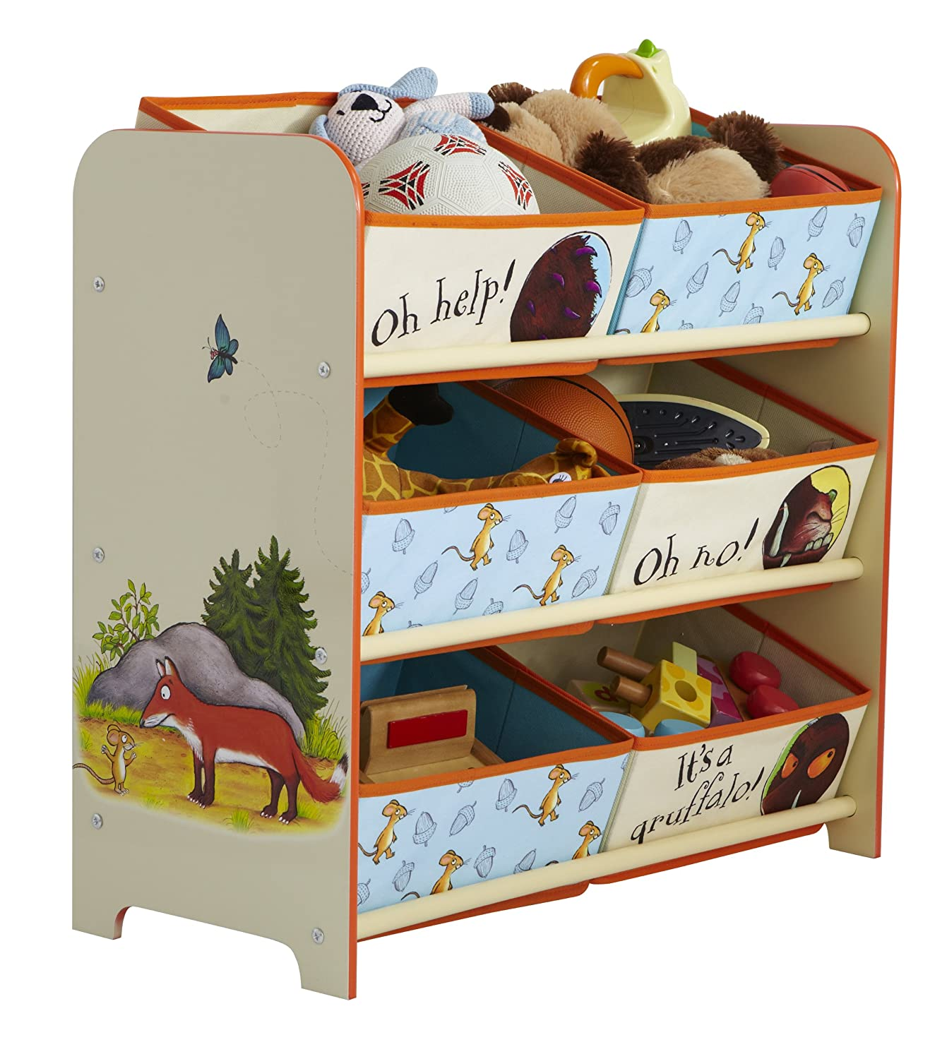 The Gruffalo Kids Bedroom Storage Unit with 6 Bins by HelloHome