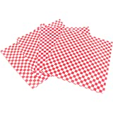 CucinaPrime Food Basket Liner, 12 Inches by 12 Inches, 100 count, Red and White Checkered