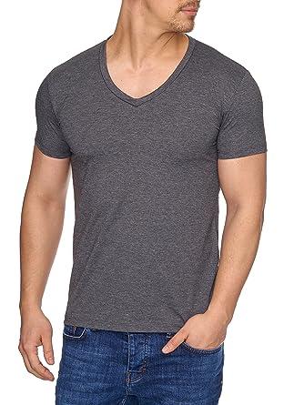 6f31efba0614 Tazzio Herren V-Kragen V-Neck T-Shirt 17100