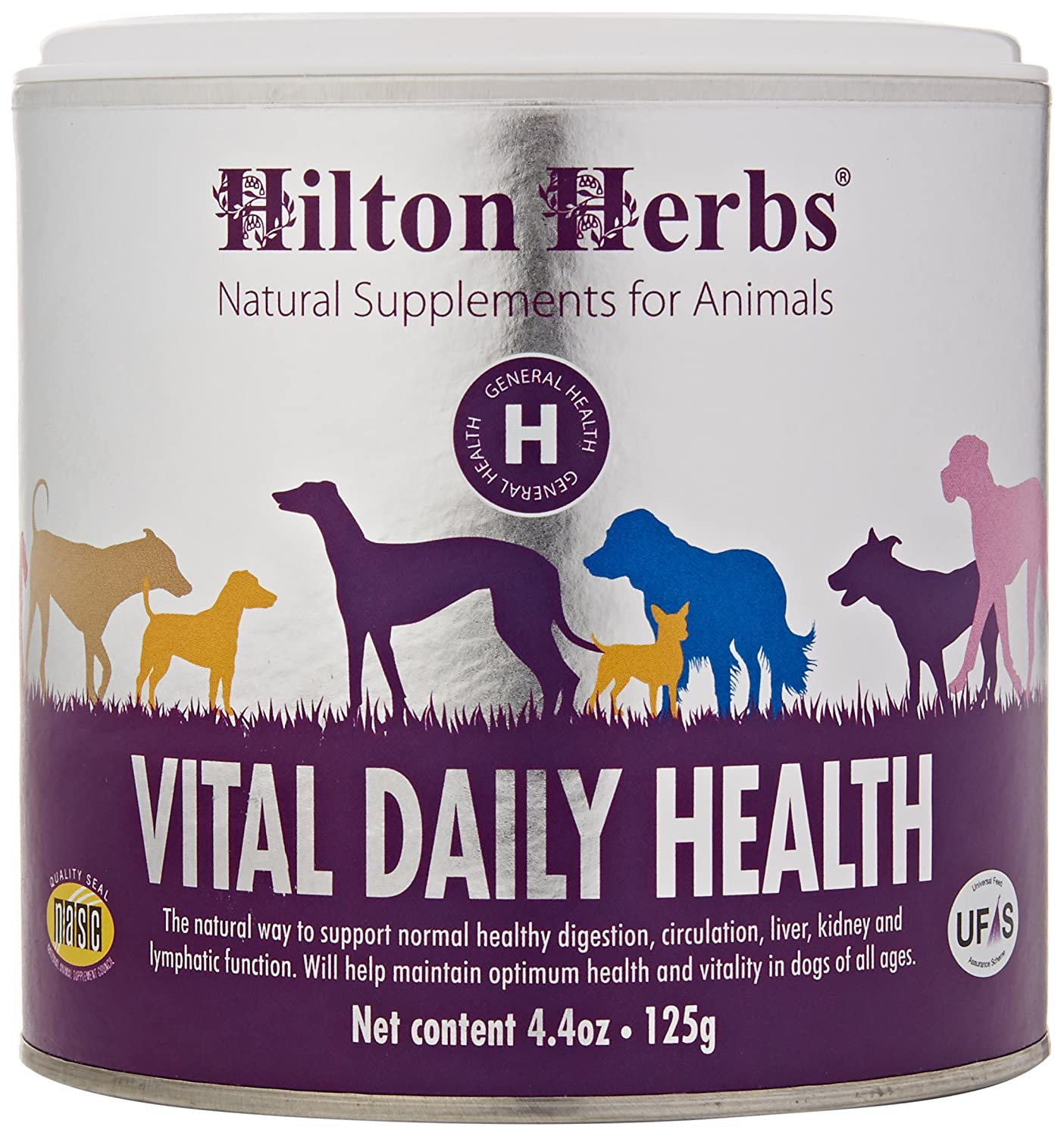 Hilton Herbs Canine Vital Daily Health Herbal Supplement for Dogs 4.4 oz Tub