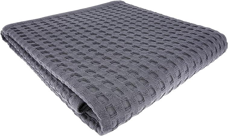 Toalla de ducha toalla WAFFEL Piqué 130 x 70 cm/algodón/Toalla ...