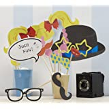 Hölzerne Photo Booth Requisiten (10er) - Great für eine Hochzeit oder Party