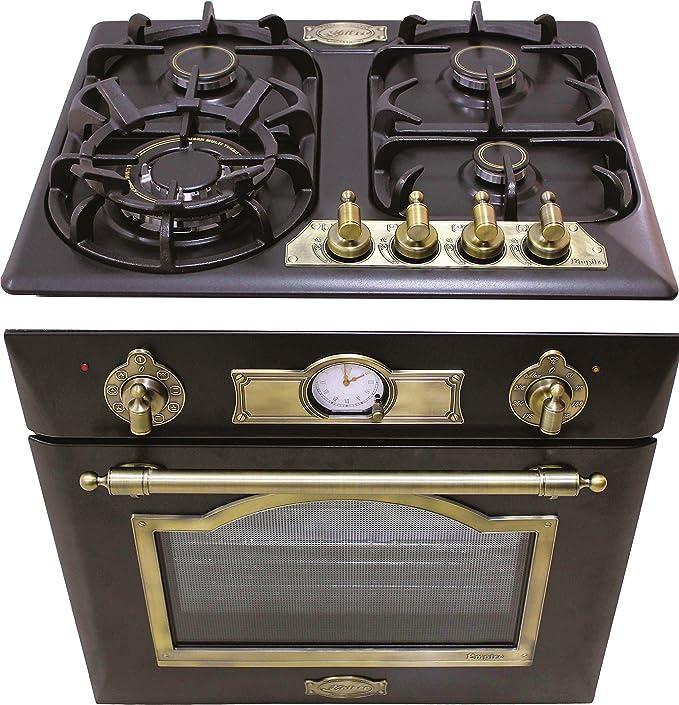 Kaiser Juego de cocina Autark Empire / Horno eléctrico empotrable de 60 cm Eh 6355 Em + 60 cm de cocina de gas Kg 6325 Em / Luxus
