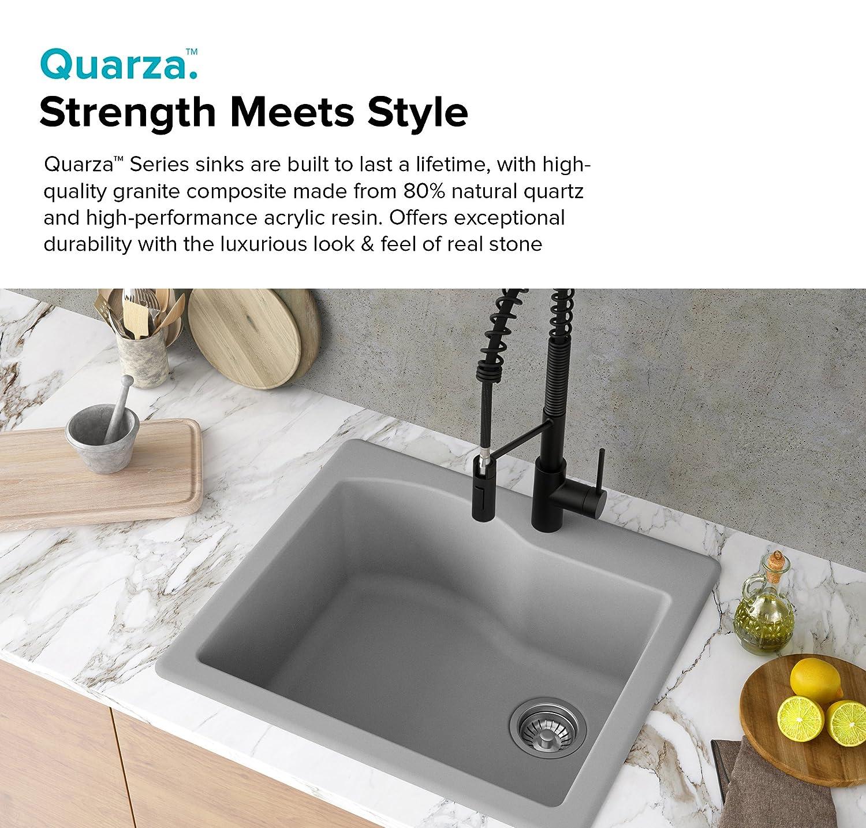Kraus KGD-441GREY Kitchen Sink Granite, 25-inch, Grey - - Amazon.com
