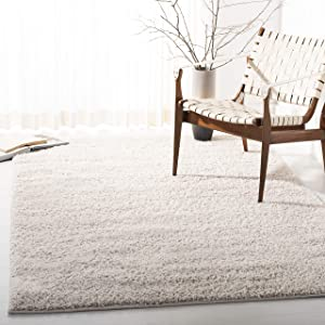 "Safavieh New York Shag Collection SG166B Ivory Area Rug (5'1"" x 7'6"")"