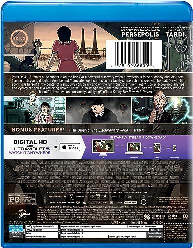 April And The Extraordinary World Blu Ray Import Amazon Ca Marion Cotillard Dvd