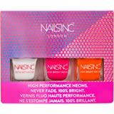Nails Inc Neon Nail Polish, Trio Collection - Pack of 3