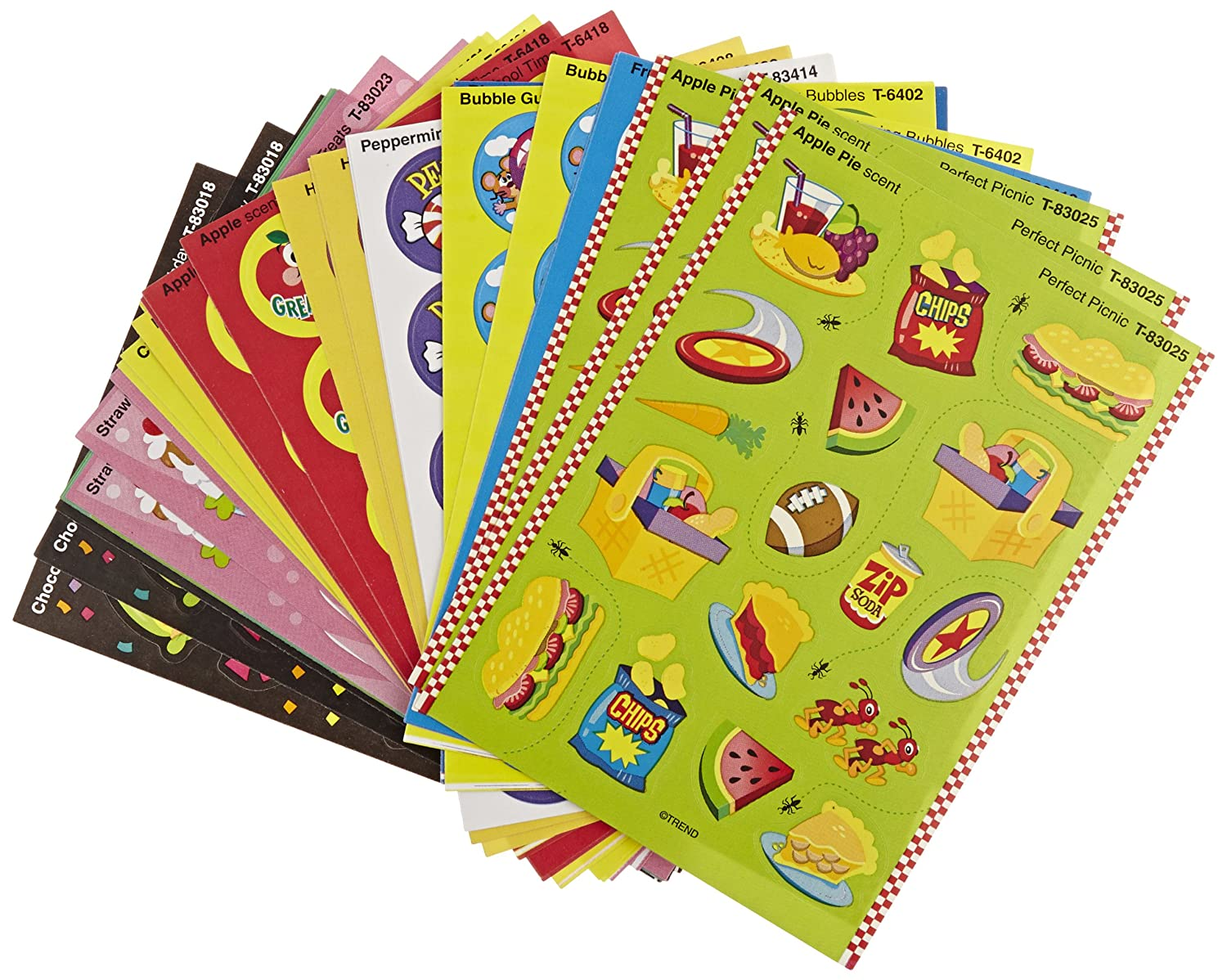 Trend Enterprises Scratch n Sniff Stinky Stickers - Set of 480 - Sweet Scents