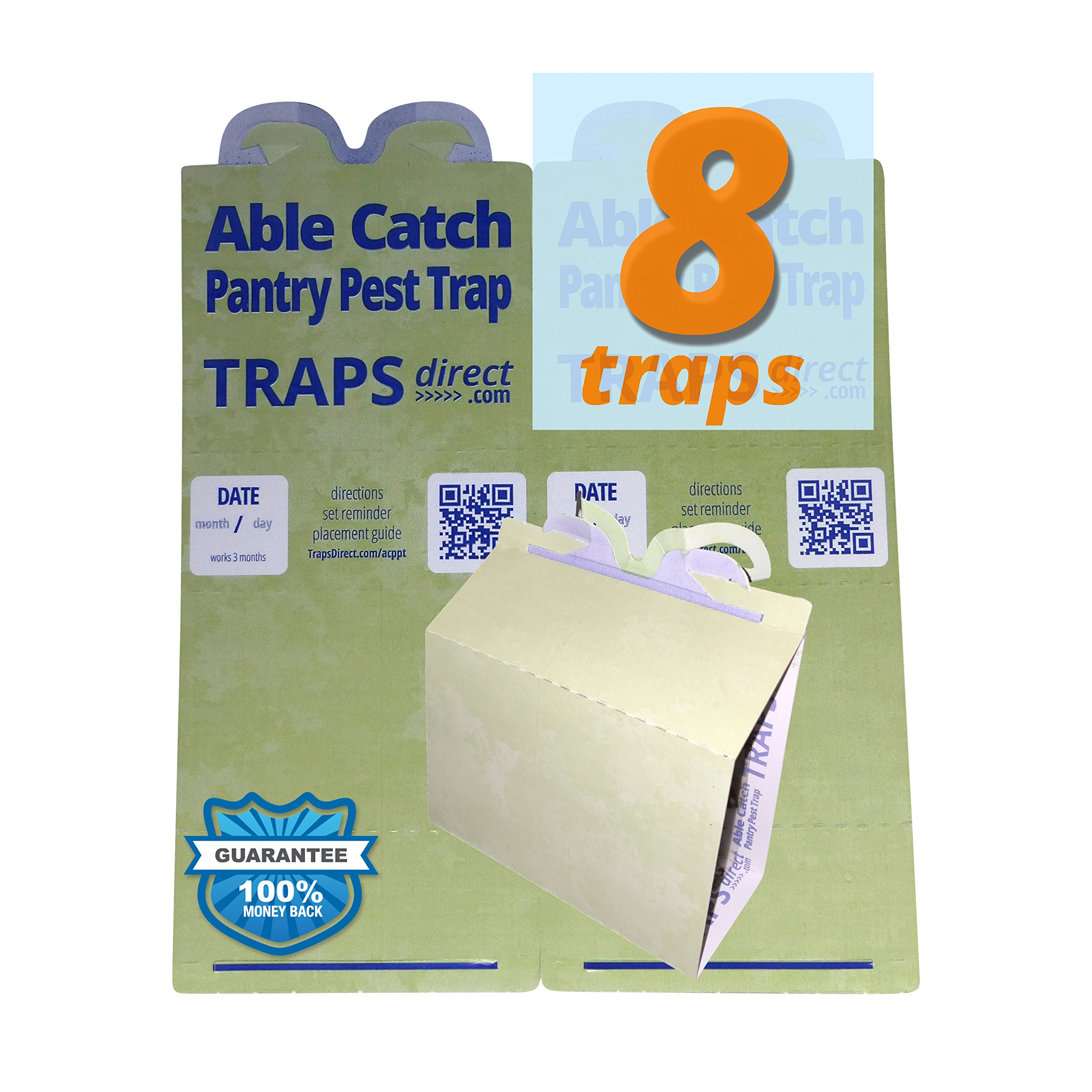 8 Pantry Moth Traps | Effective Non-toxic Pheromone Lure | USA Made | Guarantee by Able Catch (Image #1)