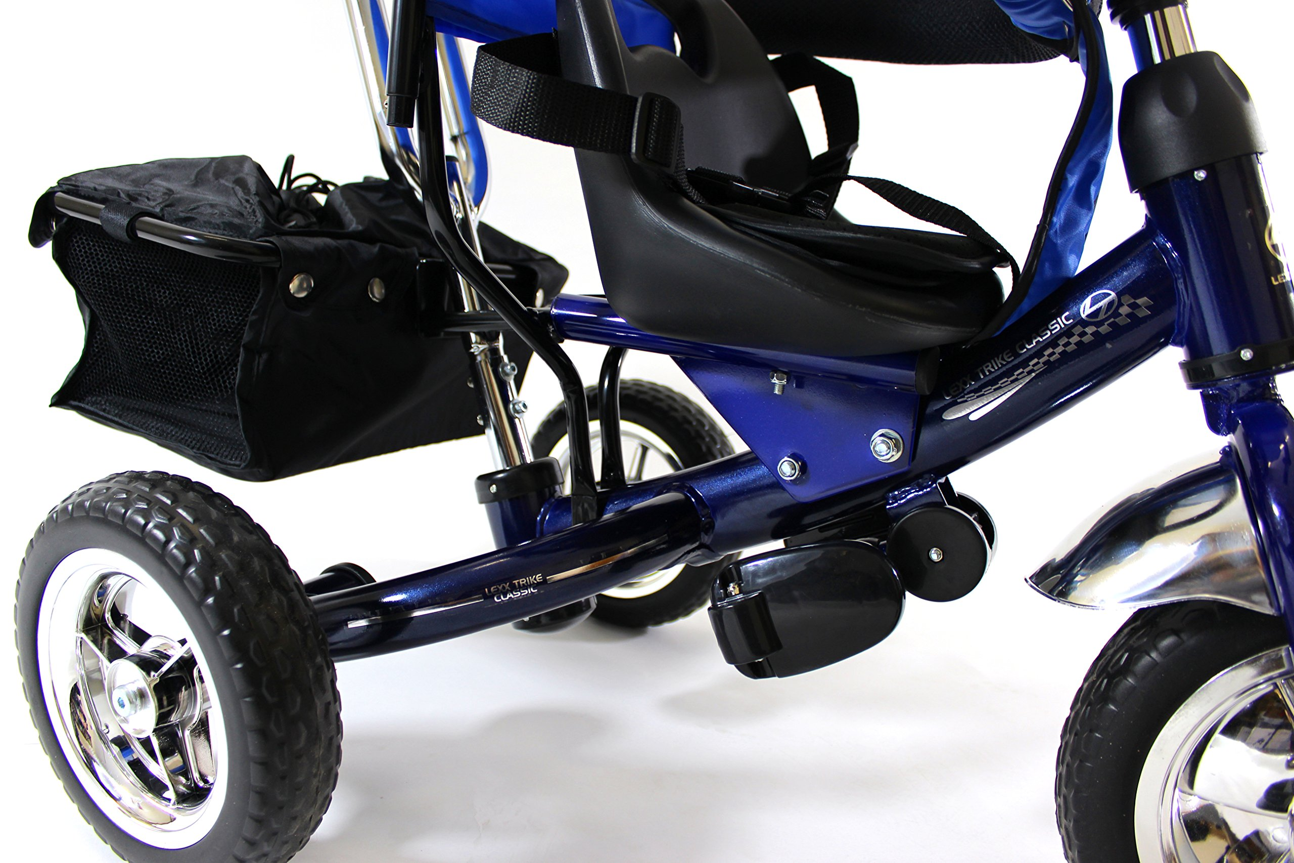 4in1 Lexx Trike Classic Smart Kid's Tricycle 3 Wheel Bike Removable Handle & Canopy NEW BLUE by Lexx Trike (Image #2)