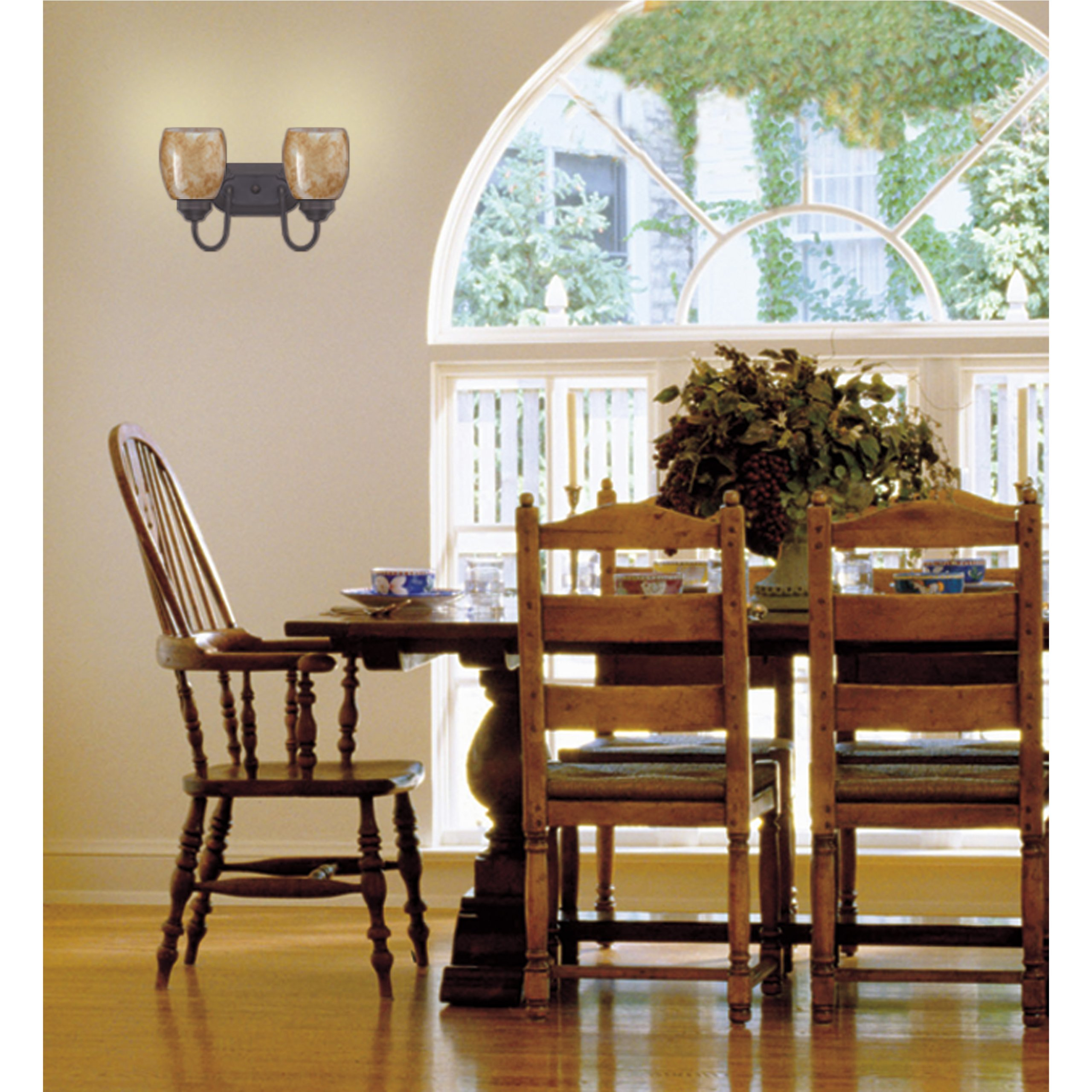 Westinghouse 6300300 Two Light Wall Fixture Oil Rubbed Bronze Finish