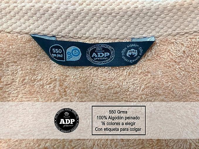 ADP Home - Juego de Toallas 550 Grms 3 Piezas (Toalla Ducha/Baño, Lavabo/Mano, Tocador) 100% Algodón Peinado - Color: Azul: Amazon.es: Hogar