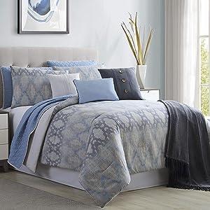 Amrapur Overseas Radiance 10-Piece Comforter and Coverlet Set King/California King