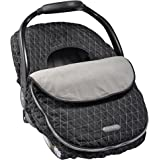JJ Cole - Car Seat Cover, Weather Resistant Stretch Canopy for Protection, Safety, and Warmth, Black Tri Stitch, Birth and up