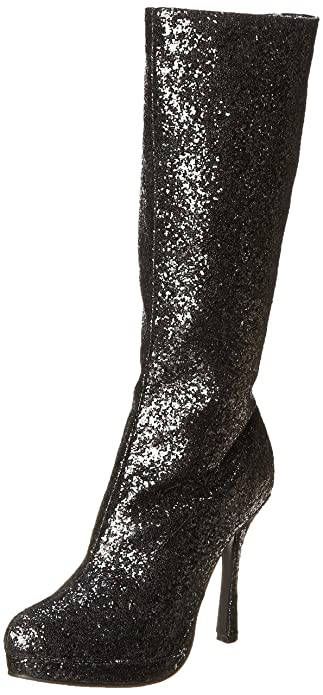 5ab8413e2fd Ellie Shoes Women's 4 Inch Knee High Boot with Glitter (Black Glitter ...