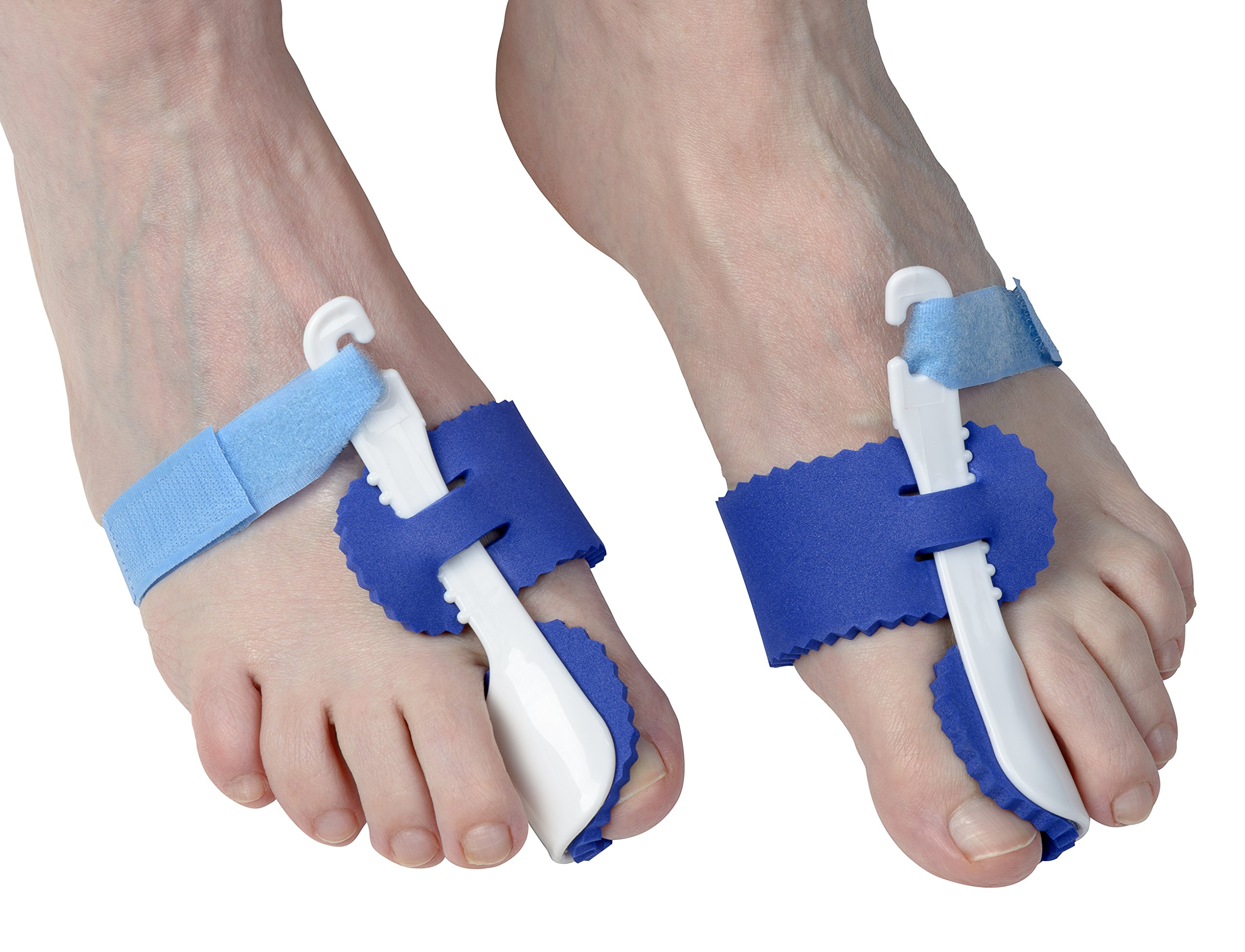 EasyLifeCare One Pair Toe Aid Bunion Corrector Spacers – Foot Orthotics Splints for Hallux Valgus Rehabilitation – Promotes Proper Blood Circulation – Prevents Bone Deformities, Big Hammer Toe Bump Lump, Arthritic Feet & Leg Muscle Pain – Soothe S
