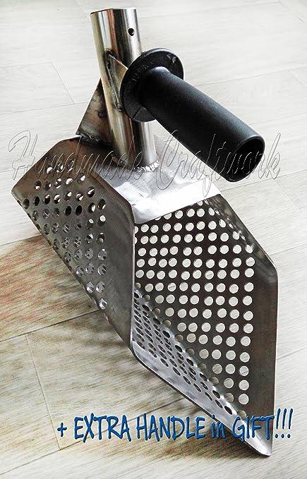 Metal Sand Scoop Stainless Steel PRO model Metal detector + Handle Tool Stainless Steel Water Metal