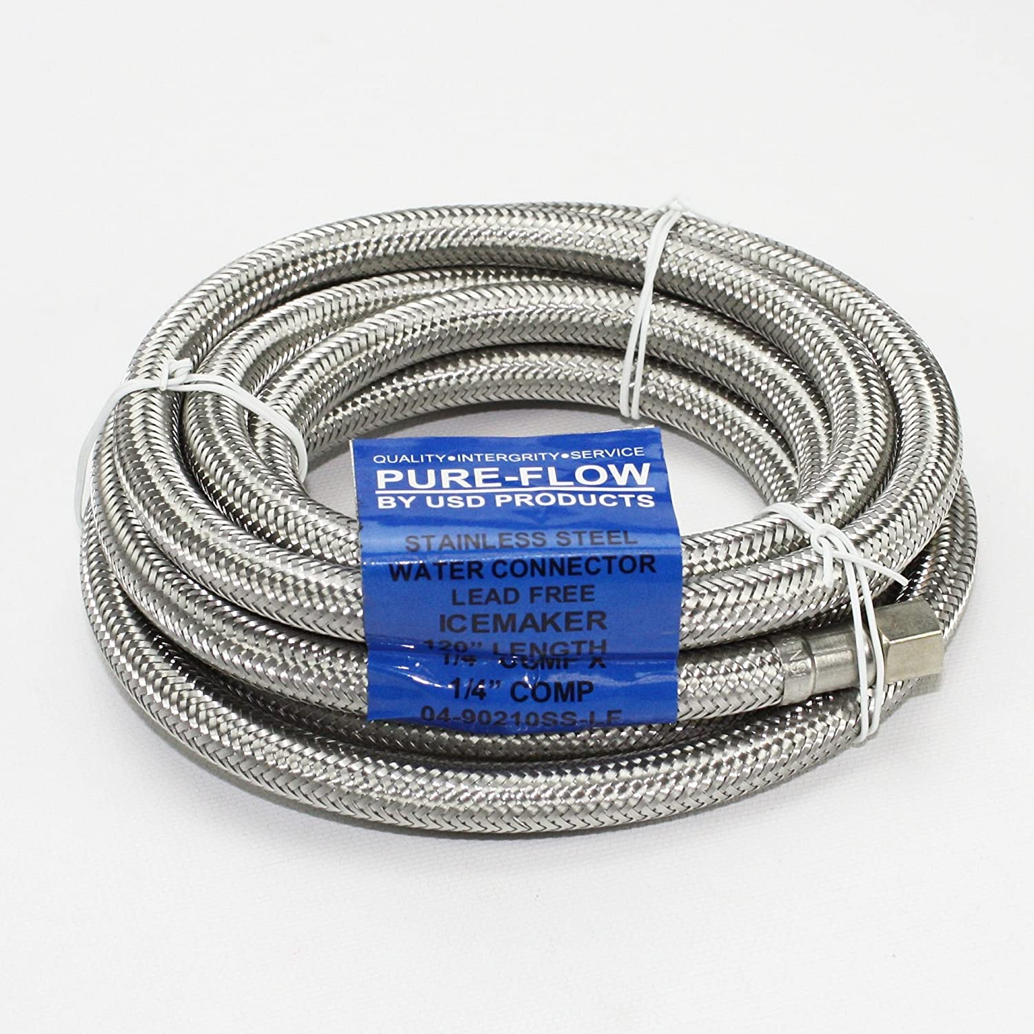 """Ice Maker Stainless Steel Braided Water Line 