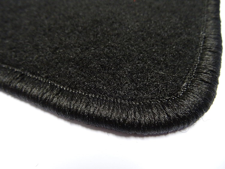 2 Einstiegsmatten in Qualit/ät Classic schwarz, Umrandung beige Autoteppich von Alpha-Tex Fu/ßmatte 1614