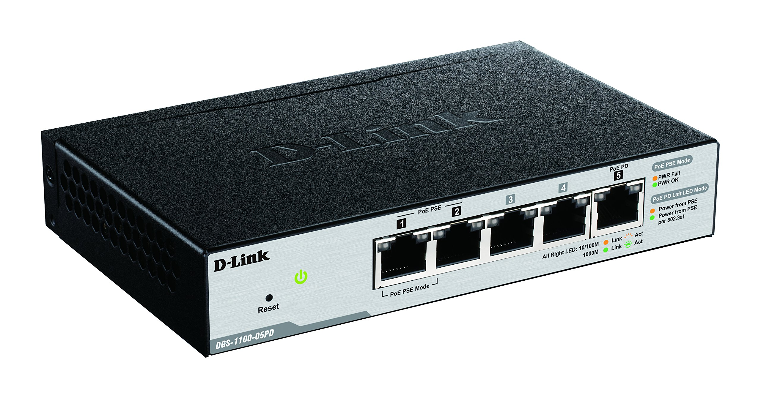 D-Link DGS-1100-05PD Smart Managed PoE-Powered 5-Port Gigabit Switch and PoE Extender by D-Link (Image #2)