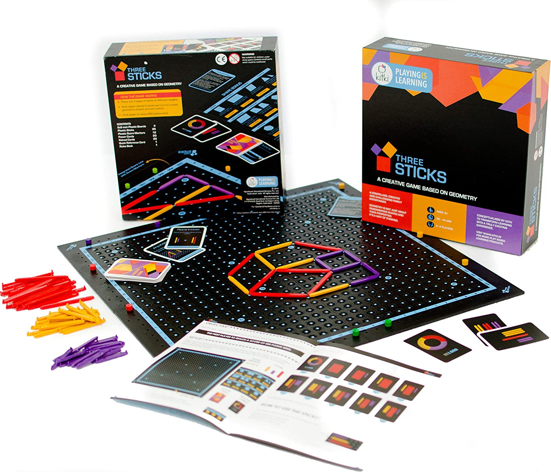 Three Sticks geometry board game