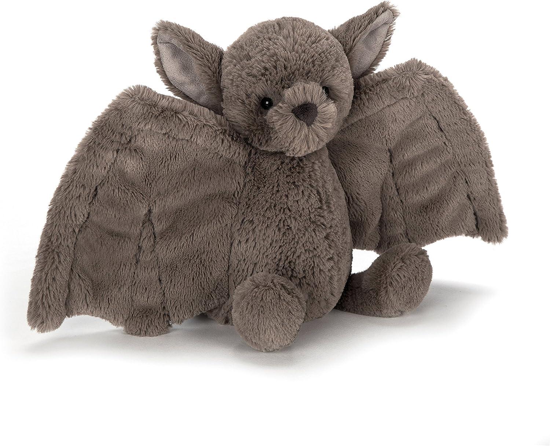 Jellycat Bashful Bat Stuffed Animal, Medium, 10 inches