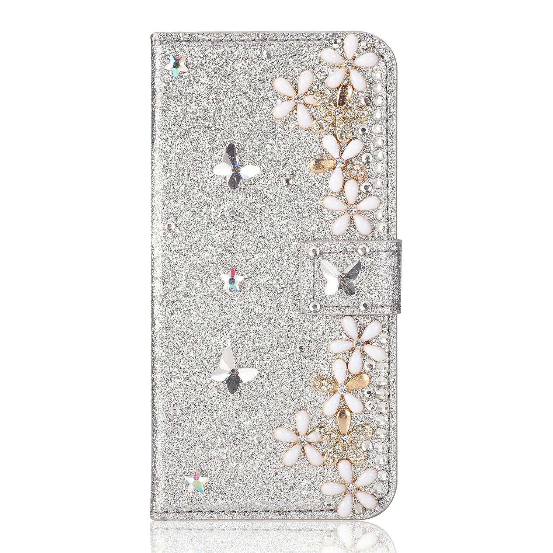Ansehnliche Modisch BookStyle f/ür Samsung A3 2017 Funkeln Bling Glitzer Diamant Slim H/ülle Ledertasche Scratch Bumper Flip Folio Wallet Stand Card Slots Pocket Magnetverschluss Leder Etui