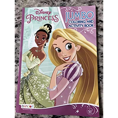 Bendon Disney Princess Jumbo Coloring and Activity Book with Princess Tiana and Ariel: Toys & Games