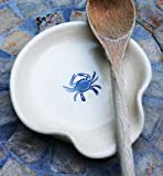 Ceramic Spoon Rest with Maryland Blue Crab