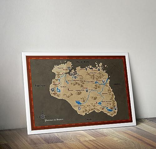 Cartel del mapa de Skyrim - Elder Scrolls Map Póster ...