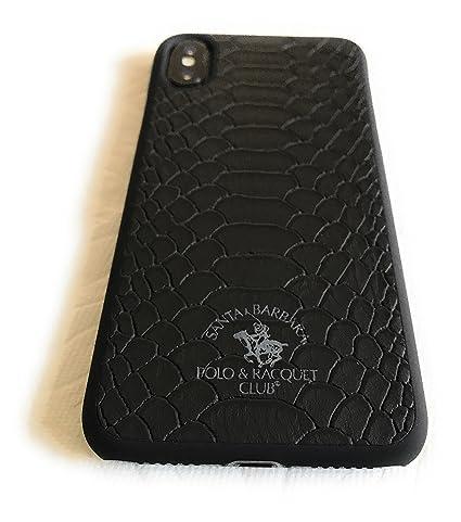 best service 0eec9 eae12 Santa Barbara Polo & Racquet Club Knight Back Case for Apple iPhone X  (Black)