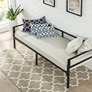 Zinus Quick Lock 30 Inch Wide Day Bed Frame and Foam Mattress Set