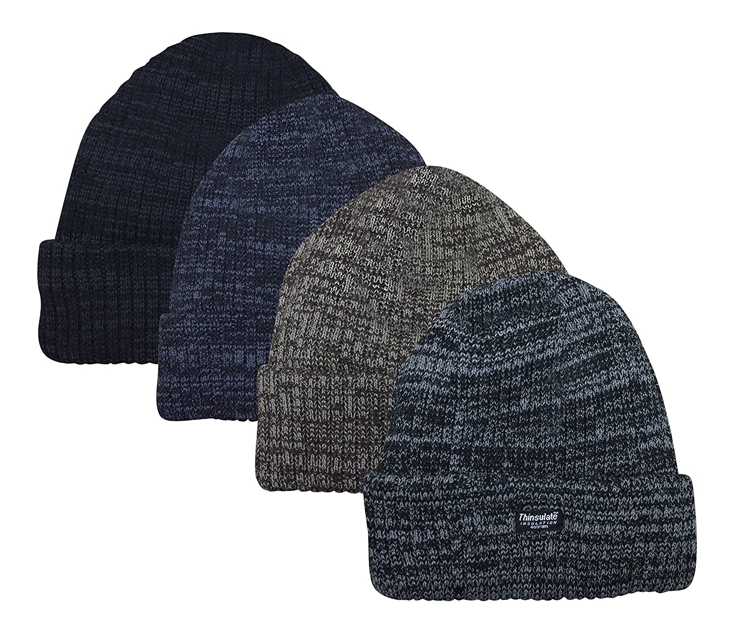 Unisex Marl Chunky Knitted 3M Thermal Winter Beanie Hat Thinsulate