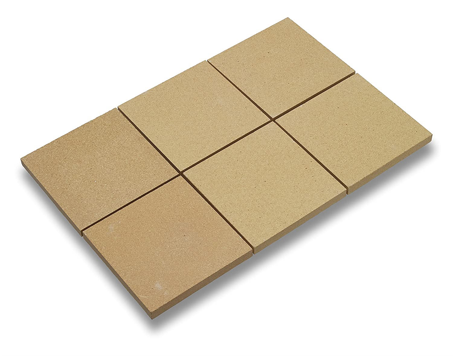 "Kitchen Supply Company Kitchen Supply 4448 Old Stone Oven Baking Tiles, 6"" x 6-I Nches, Set of 6, Brown"