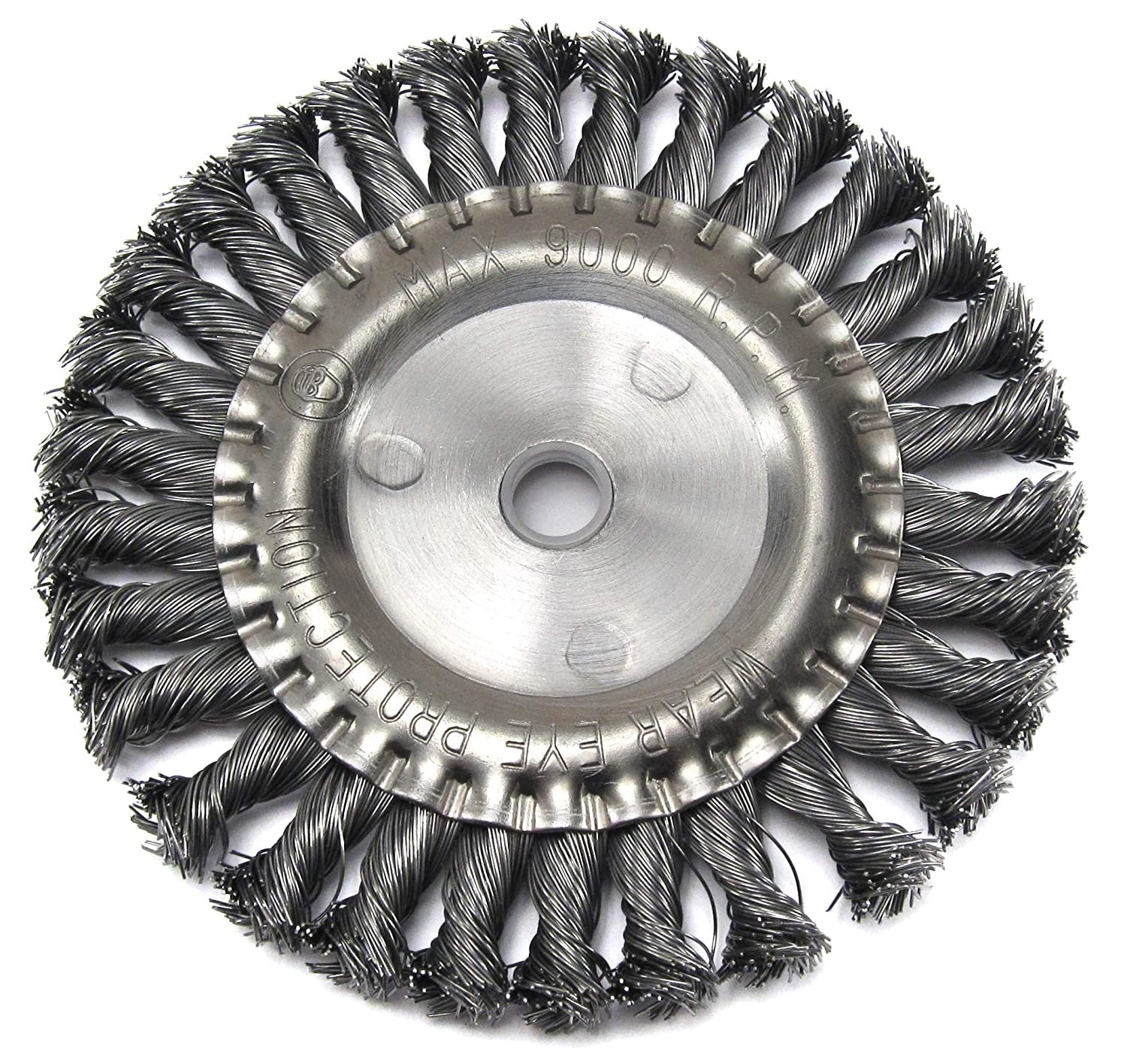Shop-Tek 80926 6-Inch by 22.2 Hole Twist Knotted Wire Wheel Brush